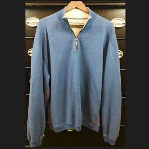 Tommy Bahama Mens Large Pullover Sweater w/Zipper